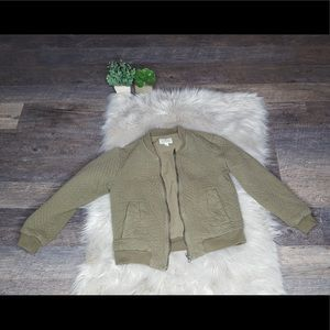 Lucky Brand Quilted Denim Jacket Faded Green S